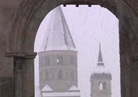 Il neige à Cluny